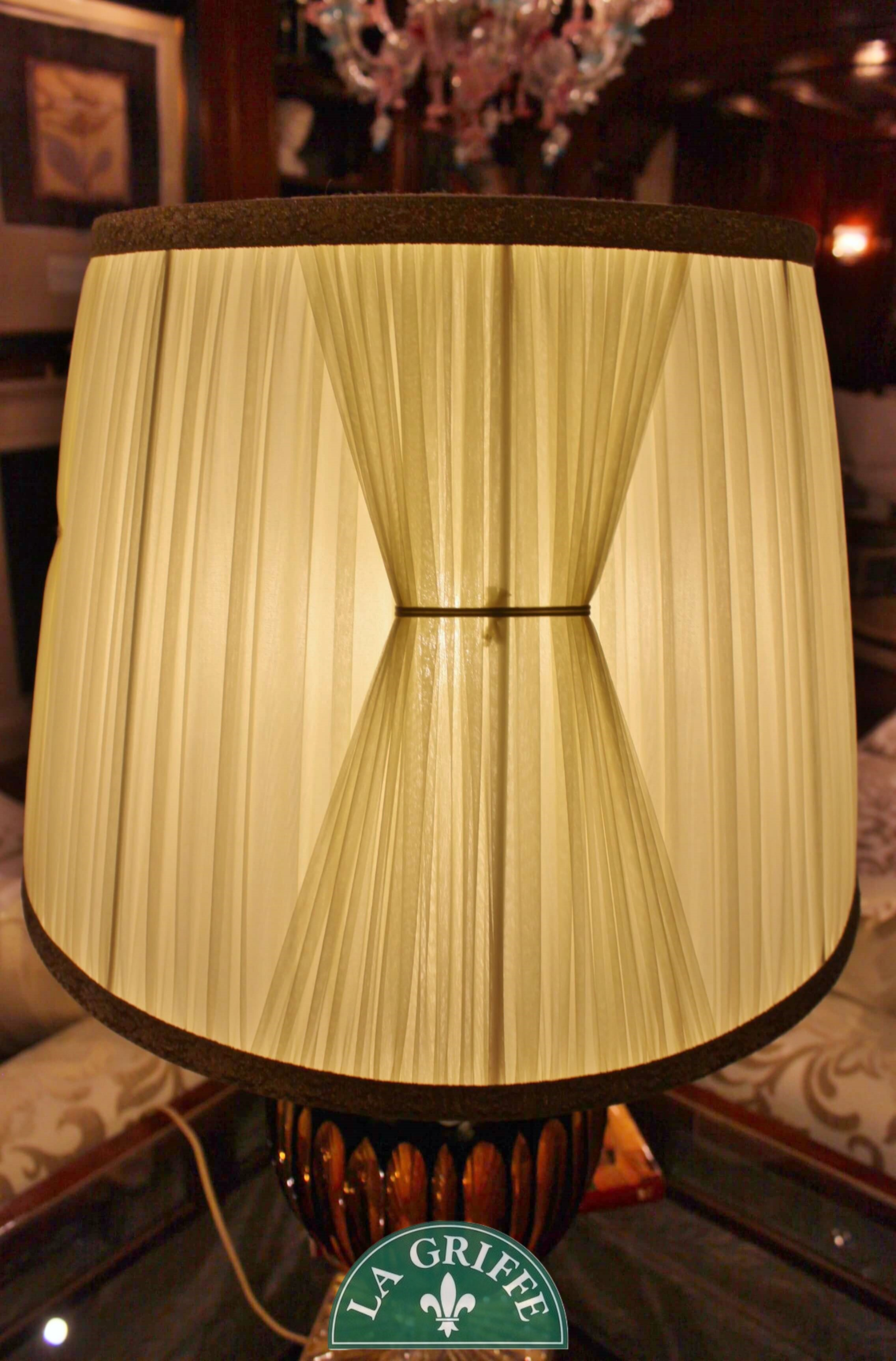 Lampadario classico in vetro - ambra
