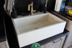 Lavello a vasca unica in marmo bianco