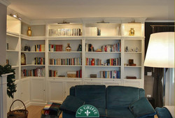 libreria soggiorno su misura monza
