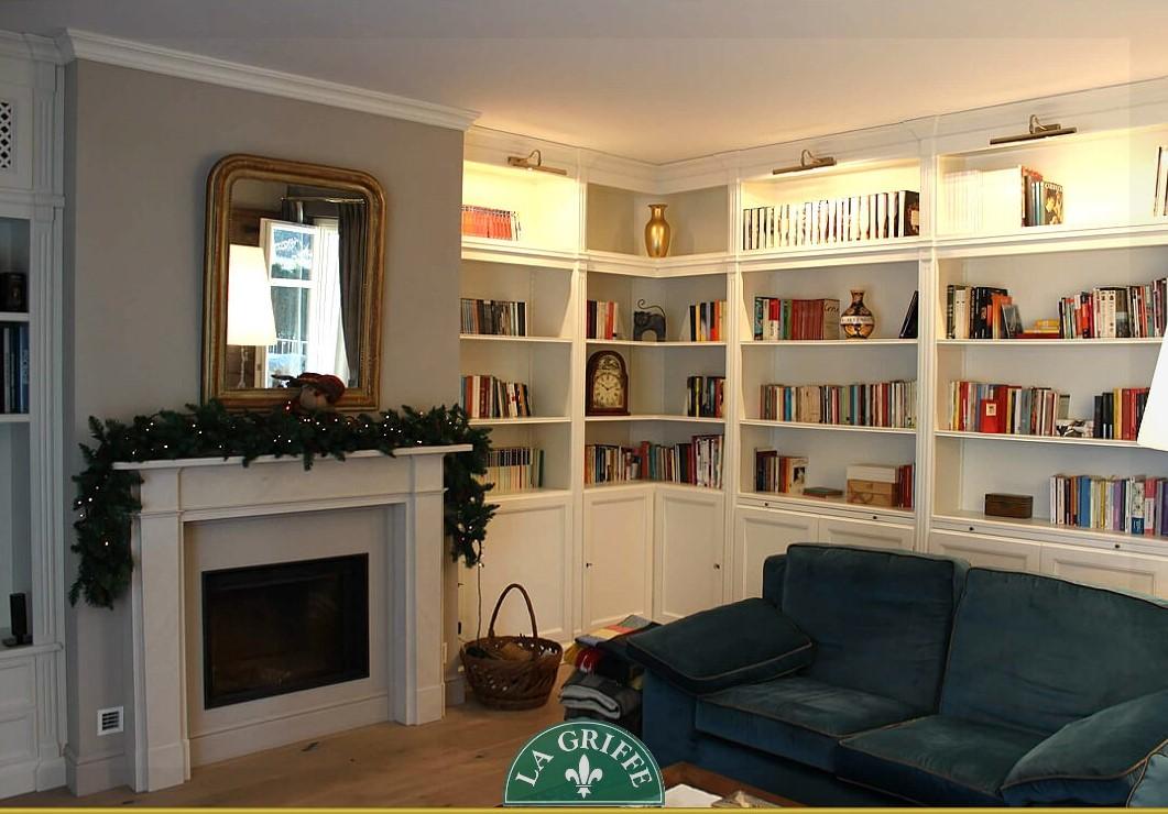 Libreria su misura classica boiserie