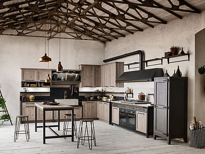 cucina vintage industriale