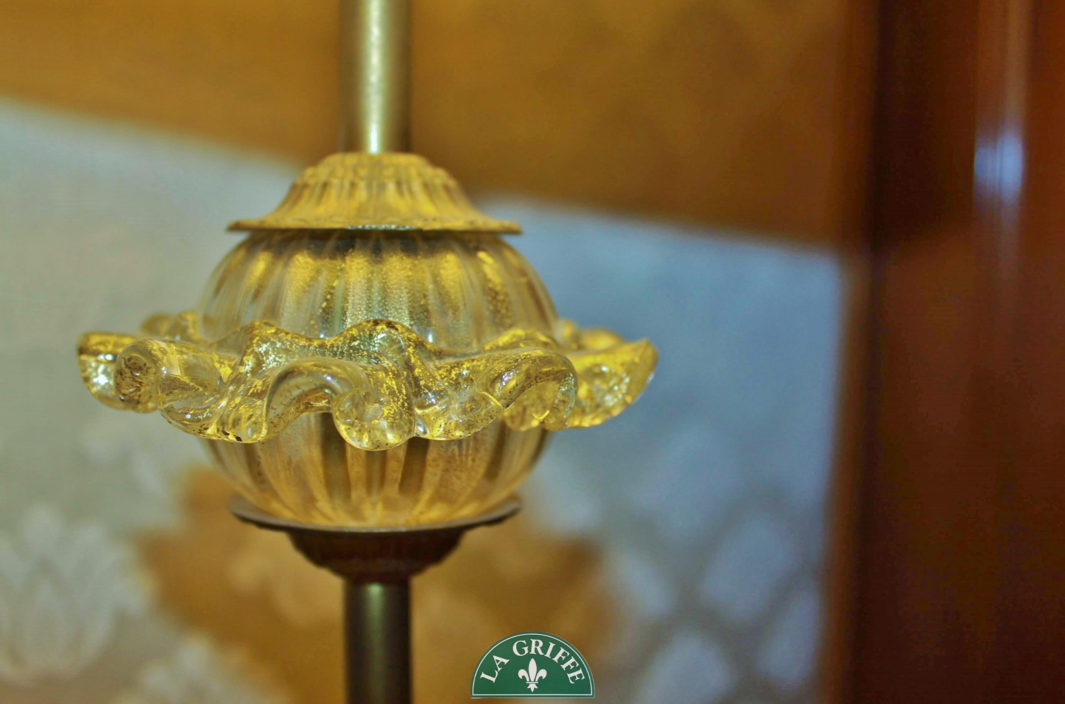 Lampada classica cristallo/paralume