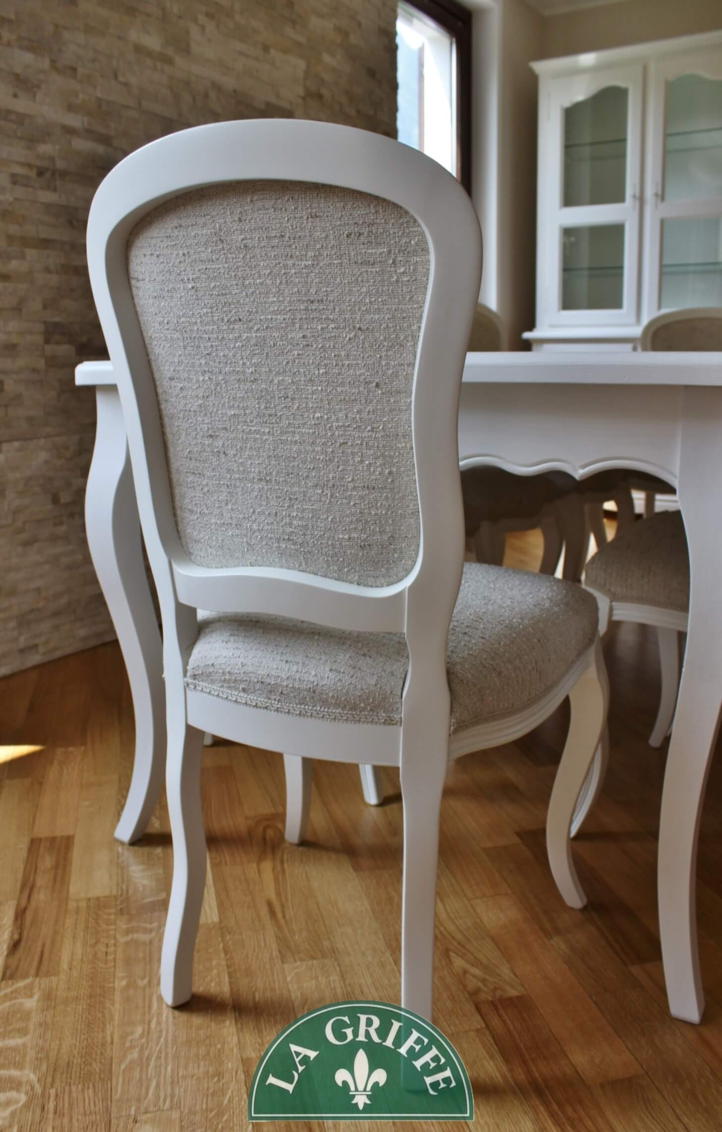 sedia artigianale imbottit su misura