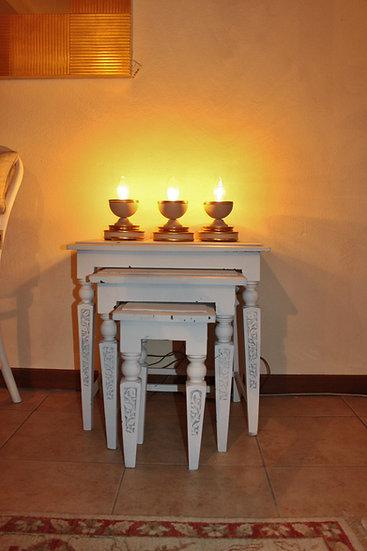 Set 3 tavolini in stile Provenzale