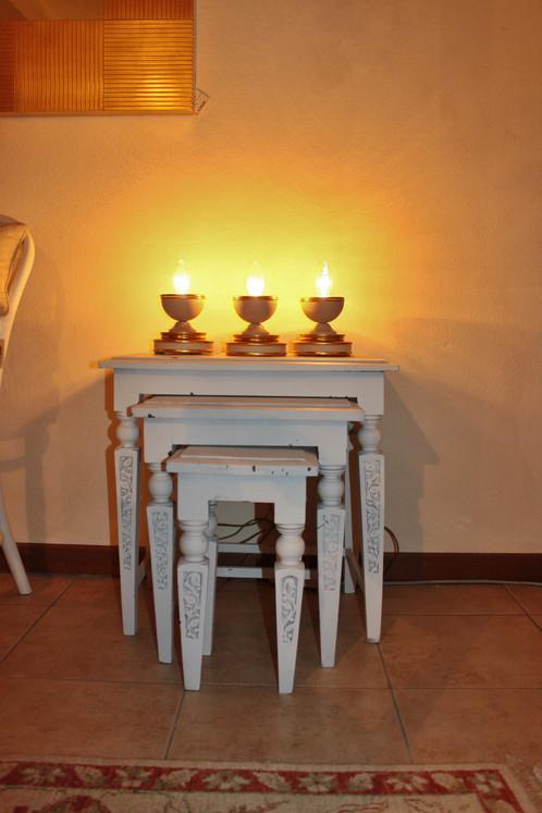 Set 3 tavolini in stile provenzale la griffe arredamenti for Arredamenti piemonti carate brianza