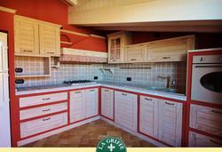 Progetto -Cucina mansardata muratura