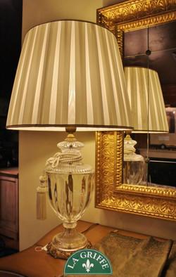 Lampada classica bianca in cristallo