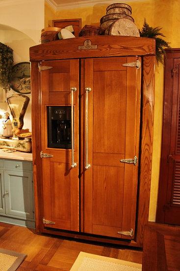 Ghiacciaia Americana in legno massello - Marchi Cucine