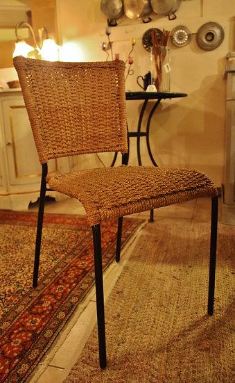 Set 2 sedie rustiche in corda intrecciata- Elite