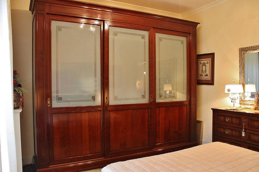 Armadio Grande Arredo a 3 ante scorrevoli e vetro bifacciale decorato