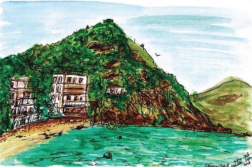 Lamma Island Postcard Print
