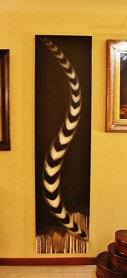 Quadro olio su tela 'Riflessi Black'n White' - telaio in legno