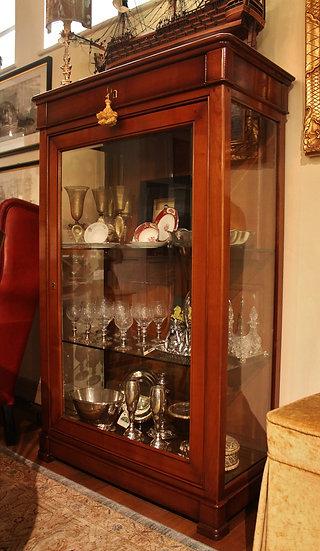 Vetrina con cassetto in ciliegio e fianchi a vetro - Grande Arredo