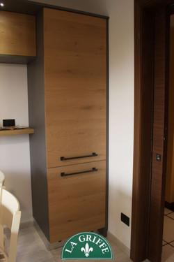Colonna frigorifero legno naturale