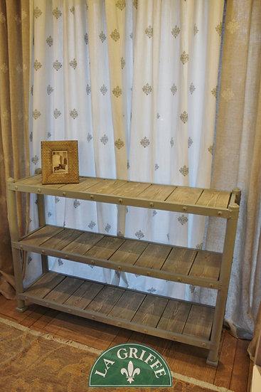 Etagere artigianale su misura - ripiani con blocchi di legno estraibili