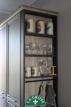 colonna laterale a giorno - cucina Vintage