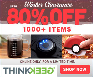 80% OFF at the ThinkGeek Winter Clearance!!