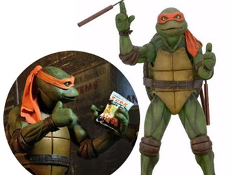 Cowabunga Dude! TMNT Movie Michelangelo 1:4 Scale Action Figure