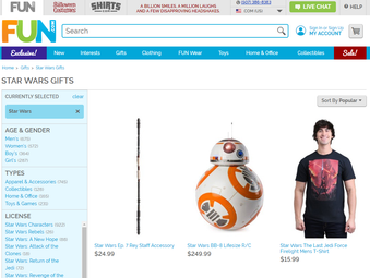 20% OFF all Star Wars Items Currently at Fun.com