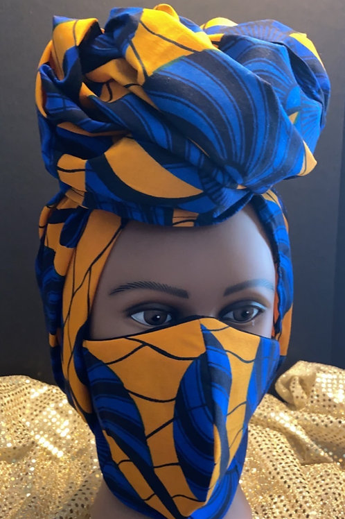 Mask and Head Wrap Set