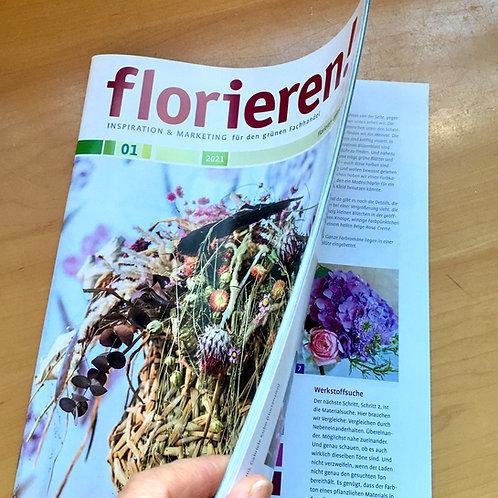 """florieren!"" 1 year subscription"