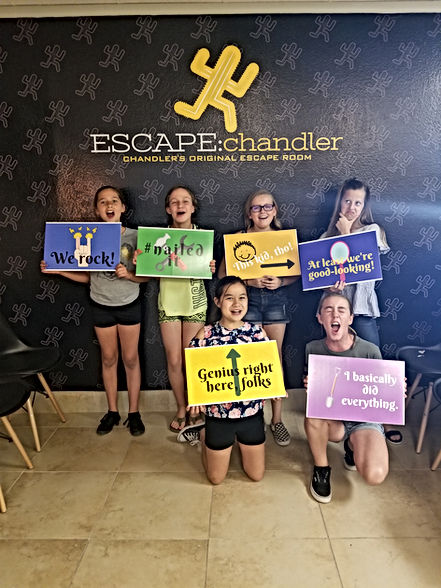 Come to escape chandler for your next Team building or Group escape room event! See why we are ranked as the top Escape Rooms Near Me.  If you are looking for an Escape Room Event, the Nearest Escape Room to you, or an Escape Room Challenge, come and Book your next escape room adventure with escape chandler.  We offer discounts on team building escape rooms and corporate team building events.  If you are looking for fun things to do for a birthday party, fun team building events, or brain games, look no further.  Escape:chandler has you covered.  We offer all kinds of corporate team building activities, so give escape chandler a call today!