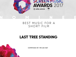 Last Tree Standing nominated for the 2017 Screen Music Awards