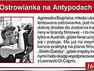 Agnes featured in Polish Newspaper - 'Gazeta Ostrowska'