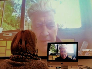 Chatting with my mentor David Lynch