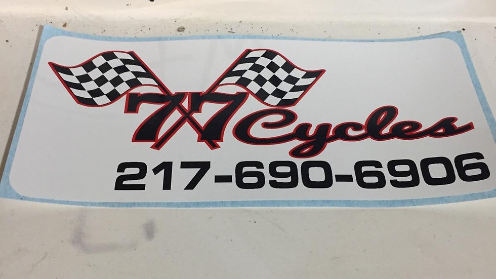 77 Cycles Sticker