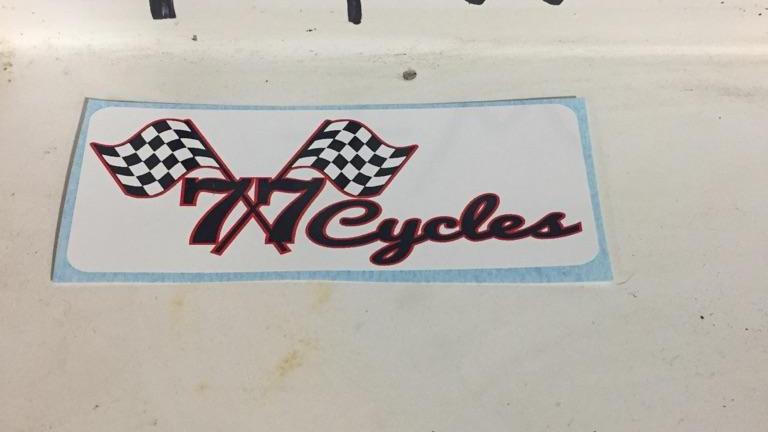 77 Cycles Original Logo Sticker (SMALL)