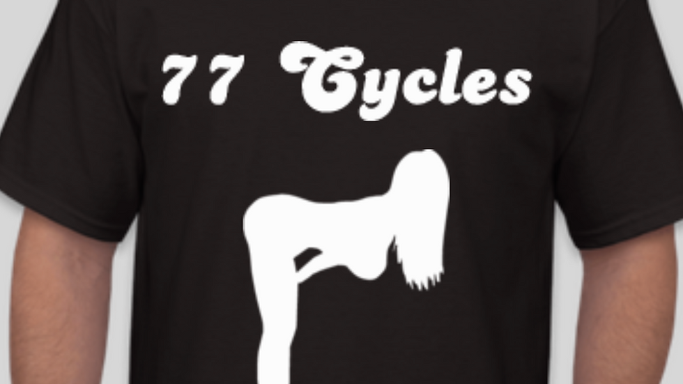 NEW 77 Cycles Retro Logo with Pinup Girl