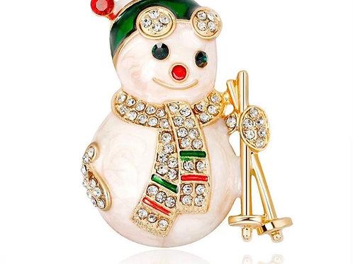 Selfridges Shinny Snowman Tasarım Broş