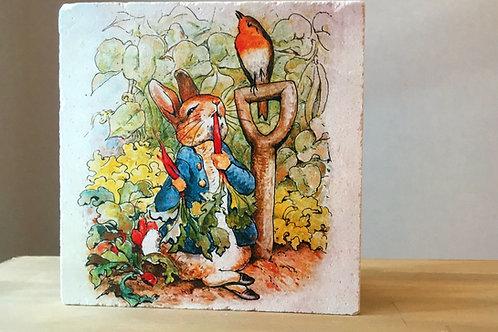 Traverten Taşı Nihale- Peter Rabbit Serisi