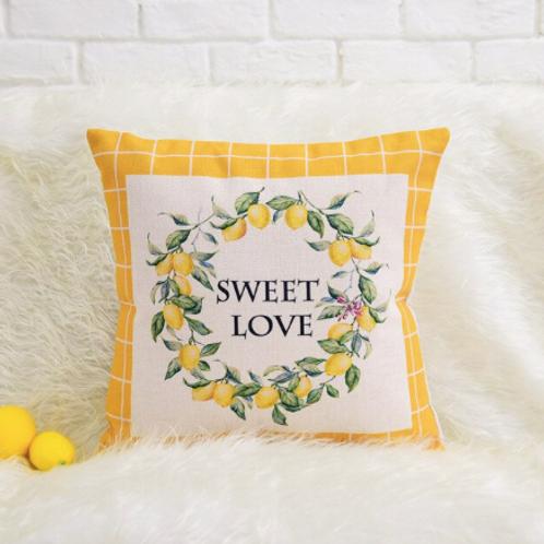 Pottery Barn Sweet Love Limon Kırlent