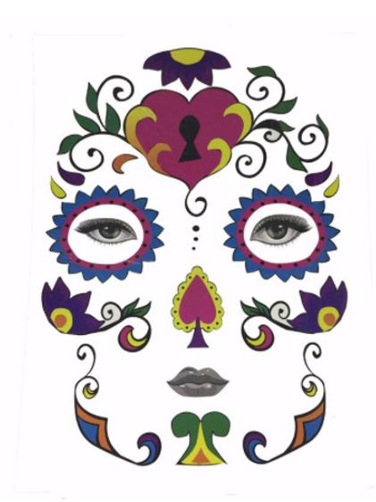 Halloween Yüz Makyaj Maskesi