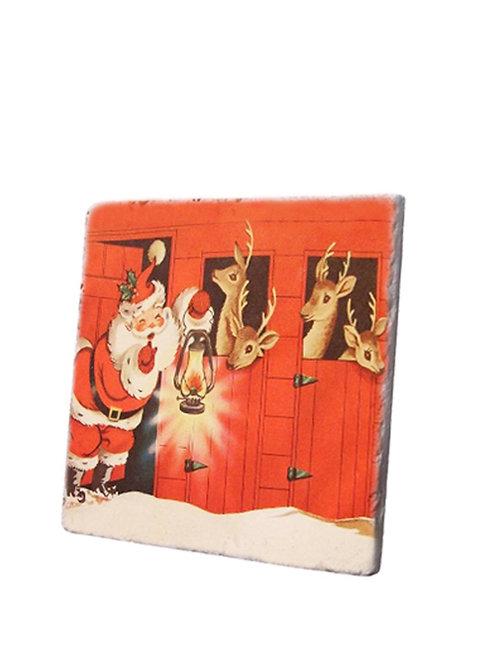 Noel Baba ve Geyikleri Traverten Nihale