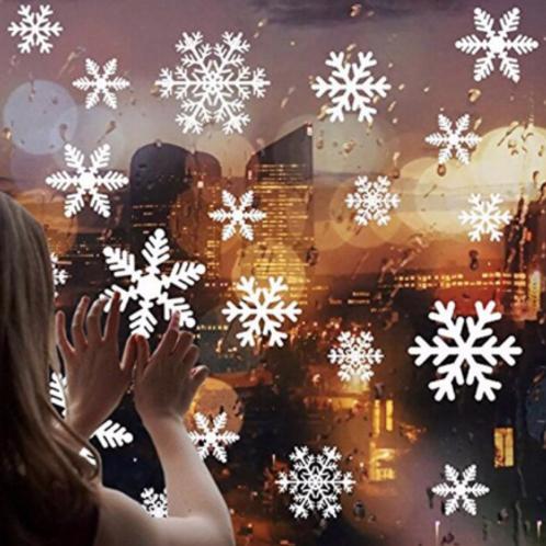Yeni Yıl Kar Tanesi Cam Sticker
