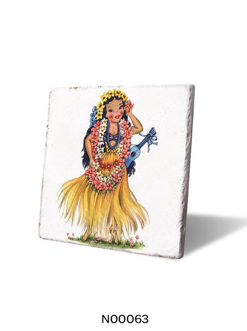 Kızılderili Kız Nihale (Traverten Hot Pad)