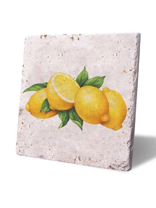 Traverten Bardak Altlığı Capri Island Lemons
