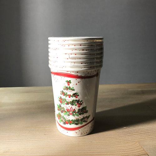 Yılbaşı Serisi- Kağıt Çam Ağacı Parti Bardağı