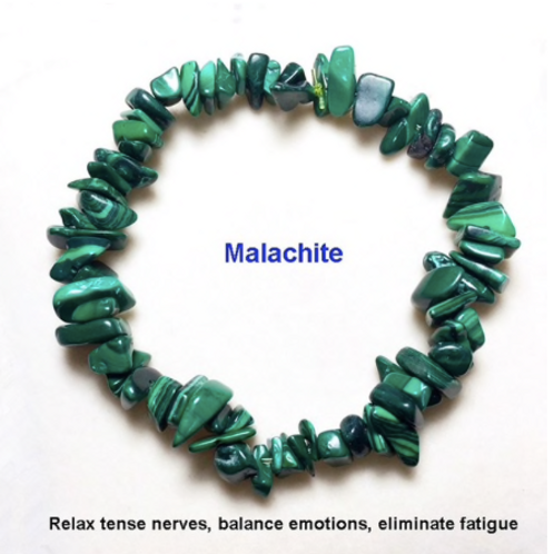 Malachite ( Malakit)  Doğal Taş Bileklik