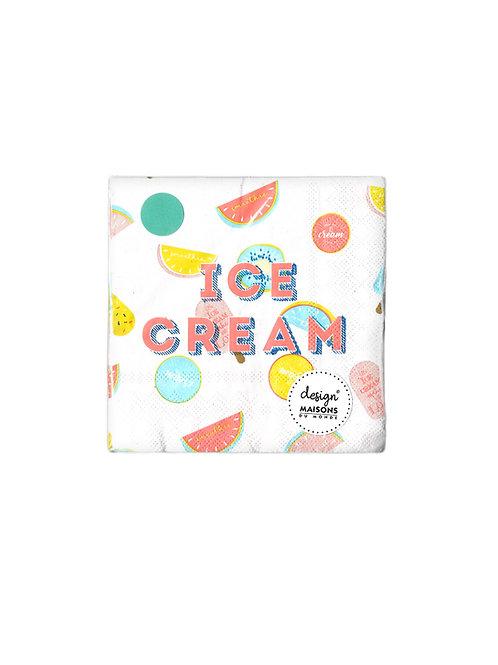 Design Maisons Ice Cream Peçete