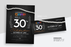 Hill CDC 30th Anniversary Invites