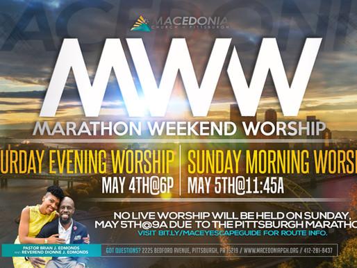 Marathon Weekend Worship
