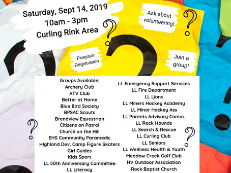 Community Groups Info Day Sept 14-2019