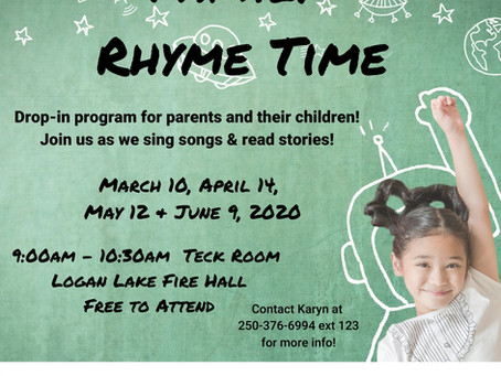 Family Rhyme Time with Kamloops Resource & Referral!