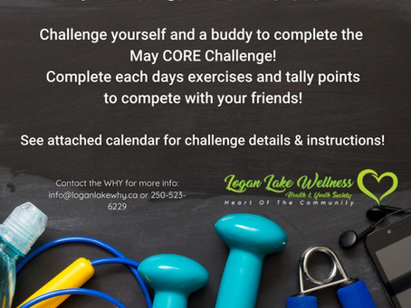 Challenge yourself & your friends to the May Core Challenge!