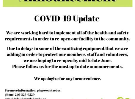 Re-Opening Update