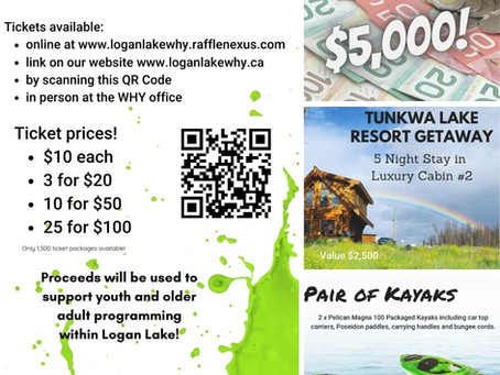 Get your WHY Wellness Raffle tickets today! loganlakewhy.rafflenexus.com